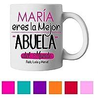 Taza Abuela/Personalizada/Regalo Original/Día de la Madre/Cumpleaños/Aniversario/Navidad
