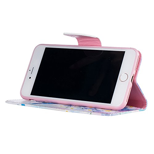 Etui IPHONE7PLUS, Frlife  Housse Portefeuille Coque Protection pour IPHONE7PLUS, en PU Cuir, avec Stand et Rangement Cartes, Case Cover couleur 11