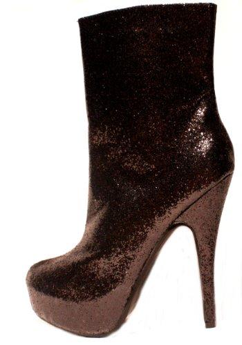 EROGANCE paillettes plateau high heels femme noir a3696/eU 36 à 46 Noir - Noir