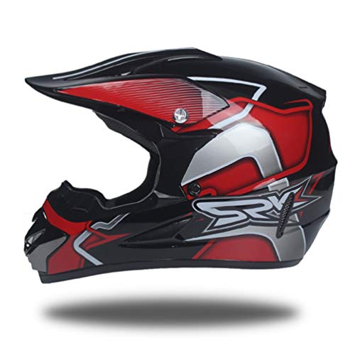 Preisvergleich Produktbild Jugendliche Erwachsene Fahrrad Motorrad Helm Off Road Leichte Anti Collision Vollgesichtsmotorradhelme Outdoor Mountainbike Motocross Sicherheitskappen für alle Jahreszeiten