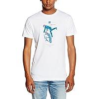 Billabong Men's Kick Start-Maglietta a maniche corte Bianco bianco S