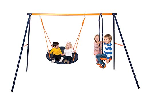 The Hedstrom Nebula is another great starter kit but a bit expensive than the Plum Helios II swing set. It's easy to assemble and lasts long for children up to 10 years though it looks ideal for children way younger than that. Overall, a good buy at decent price.