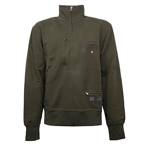 Aeronautica militare c0976 felpa uomo verde full zip sweatshirt men [xl]