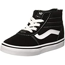 Vans Ward Hi Zip, Zapatillas Unisex Niños, Negro ((Suede Canvas) Black
