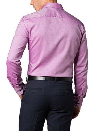 ETERNA Langarm Hemd SLIM FIT Twill strukturiert Rot