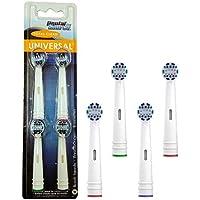 DENTAL SOURCE - 2031600 - Pack de 4 Brossettes de Rechange Total Clean pour Brosse à Dent Électrique