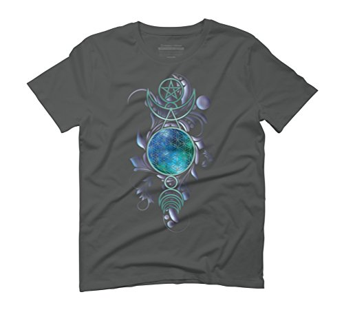 Sacred Space 2 Men's Graphic T-Shirt - Design By Humans Anthracite