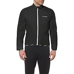 VAUDE Men's Air Jackett II – Cortavientos de ciclismo para hombre – Chaqueta de ciclista ultraligera – Color black, talla S