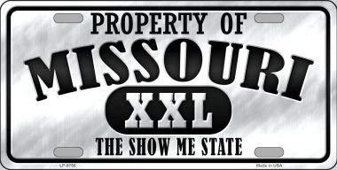 Cara King Property of Missouri Novelty Metal License Plate LP-9766 (Missouri License Plate)
