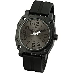 INFANTRY® Mens Analogue Quartz Wrist Watch Sport Outdoor Black Rubber Strap INFILTRATOR