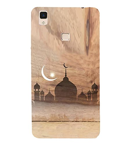 Fiobs Designer Back Case Cover for Vivo V3 (Eid Moon Chand Allah...