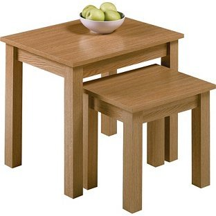 A Great Space Saver Nest of 2 Tables - Oak Effect. by OnlineDiscountStore