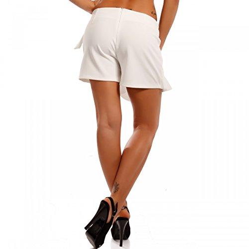 Damen Hotpants Hosenrock Shorts Weiß2