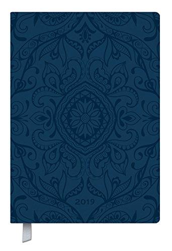Timer Soft Touch 18 dunkelblau 2019: Terminplaner groß in Lederoptik. DIN A5 Terminkalender mit Wochenübersicht, Platz für Notizen und Lesezeichenband. 1 Woche 2 Seiten - 18 Monate (Platz 18)