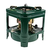 IPOTCH Portable Camping Stove Outdoor Cooking Tool Picnic Cookware Camping Heater Supplies for Family Friends Outdoor Activities, Green