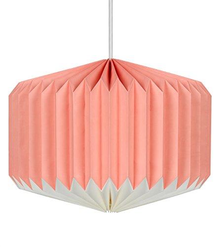 Wild Wood Lampenschirm aus Papier, Rosa/Zitronengelb
