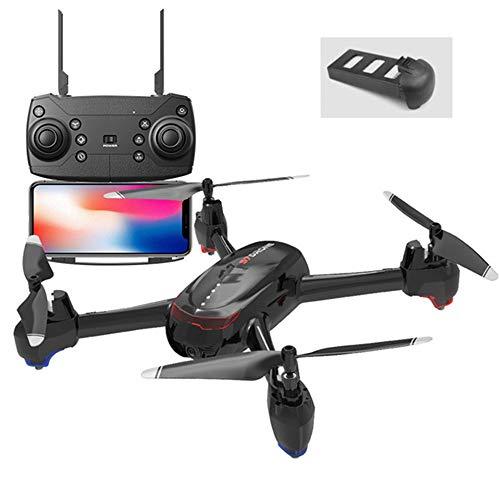 Linbing123 Faltbare Drohnen-Luftaufnahme - WiFi FPV-Drohnen-Quadrocopter mit 720p VR HD-Kamera Dual-Kamera-Quadrocopter mit Langer Lebensdauer - WiFi-Echtzeitübertragung - Mobile-app Herunterladen
