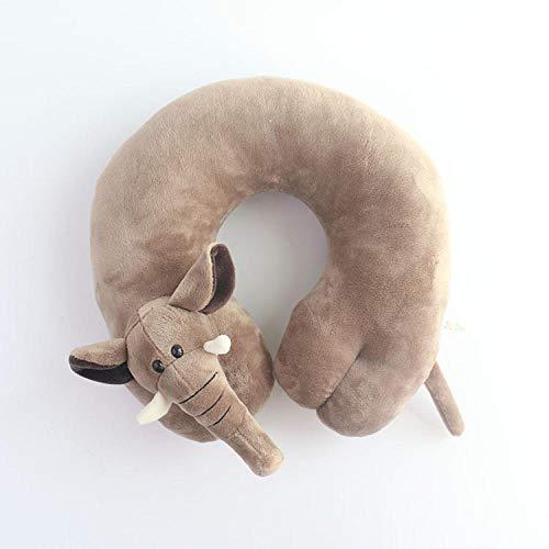 Mmban Ergonómicamente Diseñado para Niños Adultos Avión Tren Vagón De Oficina O Camping Viajes Almohada Memoria Suave Algodón Cuello En Forma De U Elefante Elefante