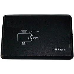 Lecteur de carte USB HF RFID Mifare 14443A, Mifare S50, Mifare S70/Mifare Pro/Mifare Ultralight NFC NXP NTAG203, Mifare DesFire EV1- Carte sans contact CPU