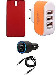 NIROSHA Cover Case Car Charger Charger for OnePlus One - Combo