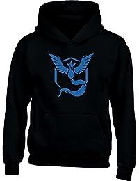 KIDS Go Team Mystic Team Blau Logo Kinder Kapuzenpullover Hoodie