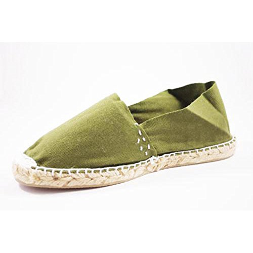 Alpargatas de esparto plana Made in Spain en verde talla 44