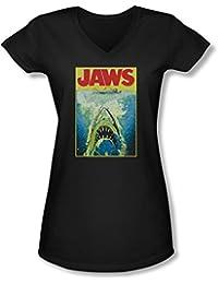 Jaws - - Lumineux V-cou des jeunes femmes T-shirt