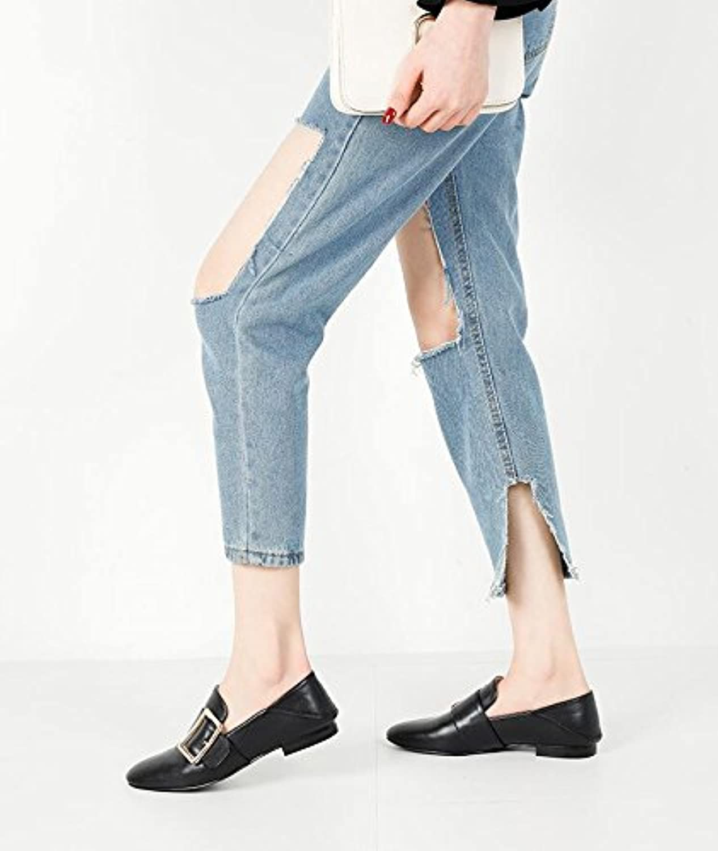 Xue Qiqi tacco fibbia laterale singolo scarpe Marea femminile femminile femminile piatto superficiale bocca scarpe tempo libero a...   Forte calore e resistenza al calore    Scolaro/Signora Scarpa  fc8a19