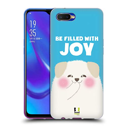 Head Case Designs Be Filled with Joy Glückliche Tiere Soft Gel Hülle für Oppo K1 (2018)