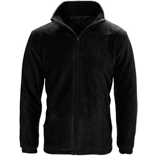 Chaqueta de Myshoestore, unisex para adultos, polar, para trabajo, ocio, deportes, exteriores, estilo informal, tallas S-3XL Negro negro XXX-Large