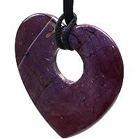 budawi® - Edelstein Herz Mookait gebohrt 70 x 70 mm, Herz Mookait Anhänger Handschmeichler preisvergleich bei billige-tabletten.eu