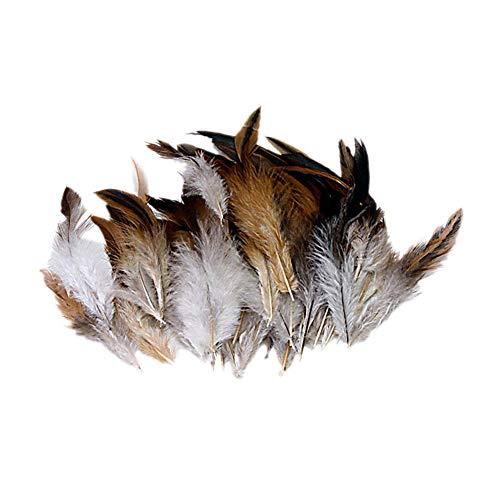 Deanyi 50 STK Natürliche Brown Hahn Feder weiche Hahn Feder Verzierungen für Kostüm Hüte Home Decoration Home Zubehör