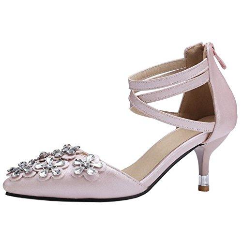 TAOFFEN Femmes Elegant Pointu Escarpins pink