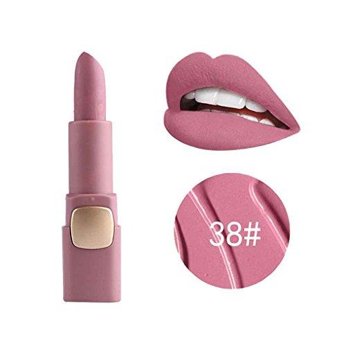 Babysbreath miss rose rossetto opaco a lunga durata rossetto idratante pennello per lucidalabbra strumenti per il trucco 38 #