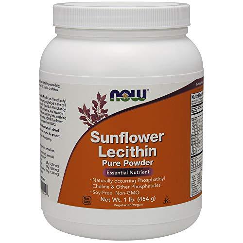 Now Foods | Sonnenblumenlecithin | reines Pulver | 1 Pfund (454 g) | vegan | glutenfrei -