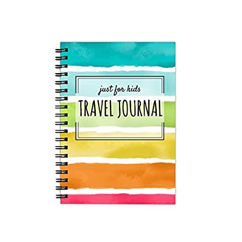 """One Love Paper Co. Kid's Travel Softbound Journal – 1-Month Diary Workbook – Planner, Sightseeing, Itinerary, Map, and Journaling Pages - 5.5 x 8.5"""""""
