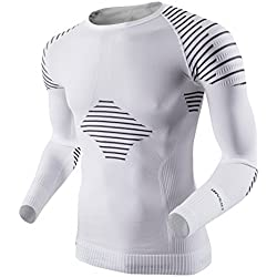 X-Bionic Man Invent Uw Shirt Lg_Sl., Uomo, Bianco/Nero, S