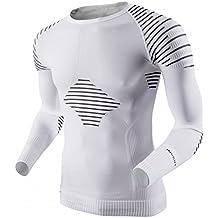 X-Bionic Man Invent UW - Camisa técnica para hombre, color blanco / negro