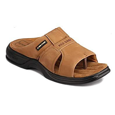 Redchief Men's Leather Slippers