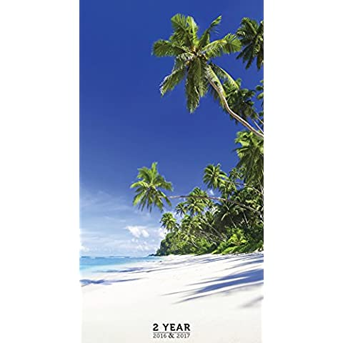 Tropical 2016-2017 spiagge-Calendario tascabile, 2 anni