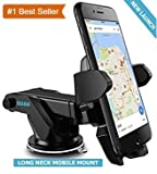#4: Rewy Car Mobile Phone Holder Car Navigation Device Universal Long Rod Sucker Silicone Base Free Rotation Mobile Holder/Car Mount Long Neck 360° Rotation With Ultimate Reusable Suction Cup (Random Colour)