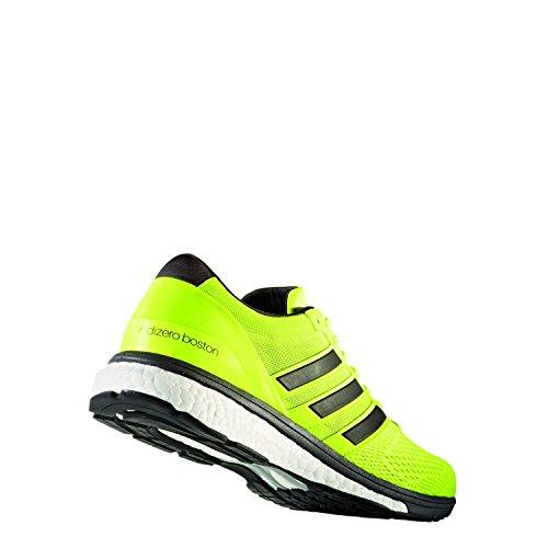 adidas Adizero Boston 6, Chaussures de Running Compétition Homme Jaune (Solar Yellow/utility Black/footwear White)