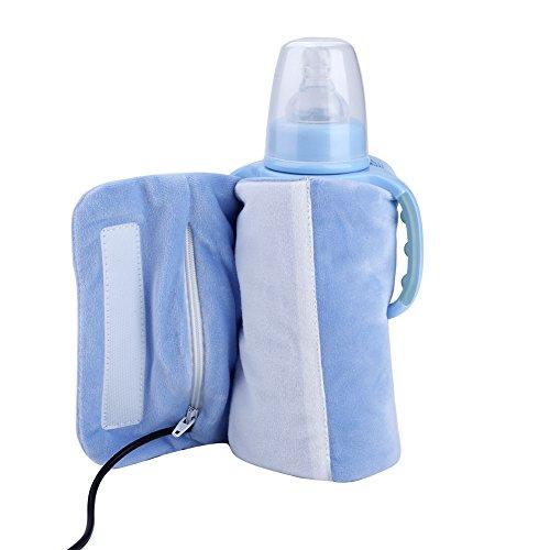 Scaldabiberon da viaggio USB, Acogedor riscaldatore per biberon portatile, scalda-latte(Blue)