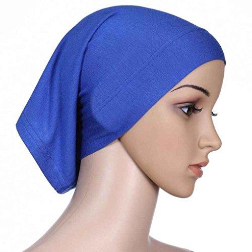 Bobury Cappello Absorbente in Cotone Absorbente Elmo Tessuto Donna Cappello Tube Hijab