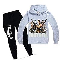 Fortnite Sweatshirt Boys Girls Hooded Hoodies Pants Set