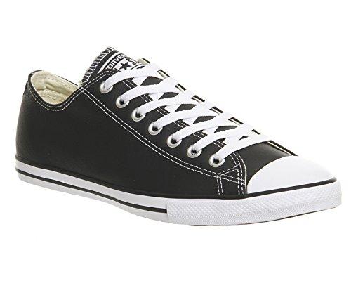 Converse Dainty Leath Ox 289050-52-8 Damen Sneaker Black White Leather