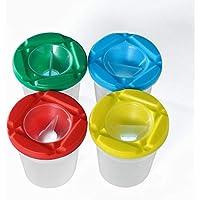 VALUEU 1 Piezas de Pintura a Prueba de derrame Vasos de Colores Tapas Surtidos de Color sin derramar Tazas de Pintura