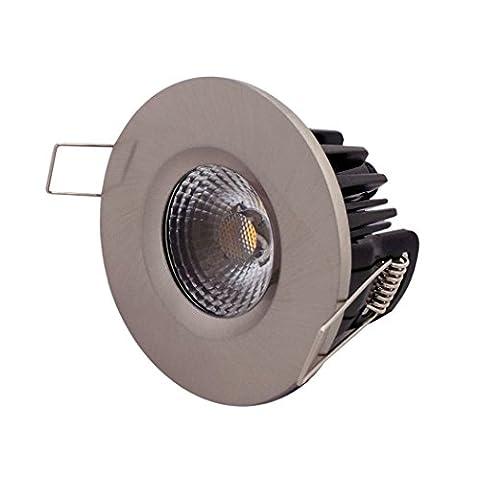 Leyton Lighting Elan Dimmable LED 10w Cob downlight (4000K, cool white, IP65, nickel)