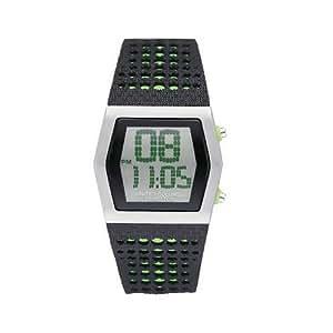 Benetton 51117025–Montre de Poignet pour homme, bracelet en caoutchouc noir
