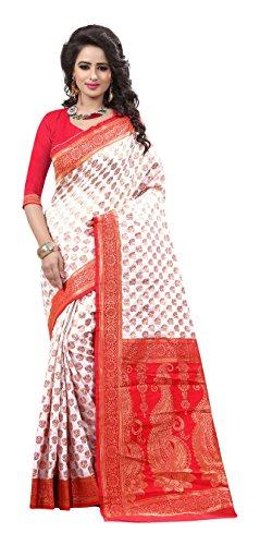 Rajgharana Saree House Art Silk Saree (A- Durga Puja Special 3_White)